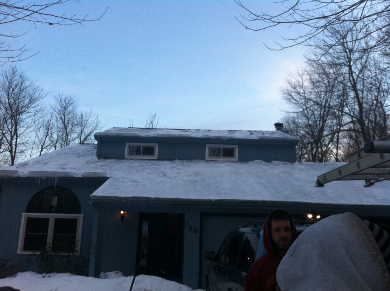 Ice And Snow Before And After Elite Roofing