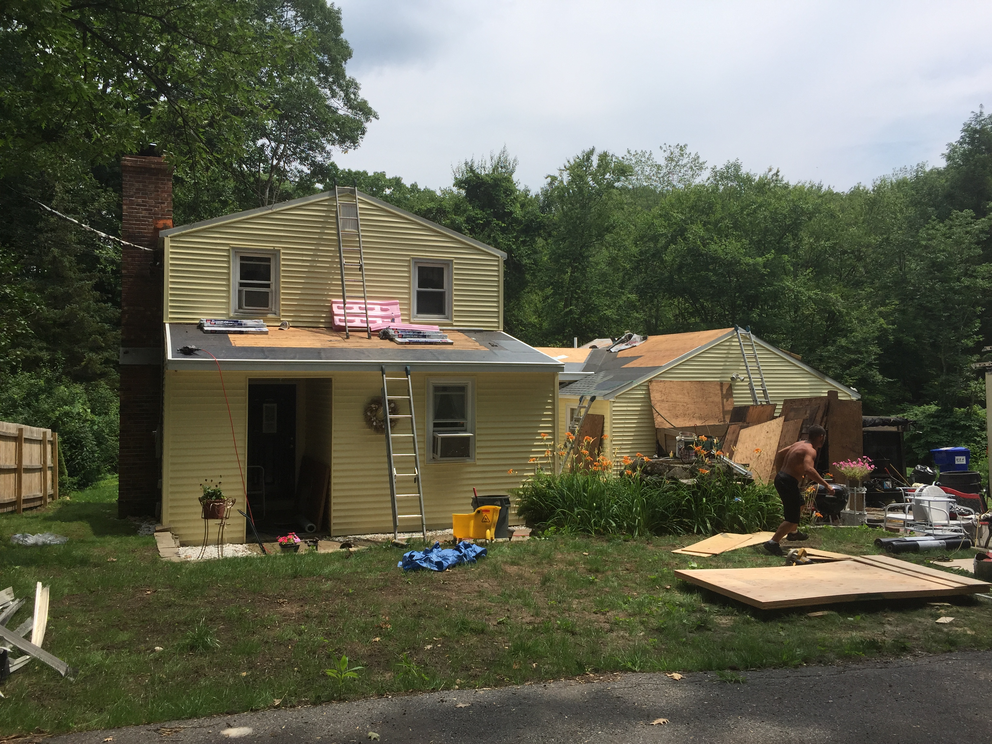 Harwinton, CT - Roof Progress